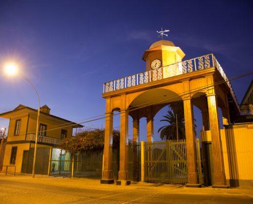 Bahnhof bei Nacht in Peru